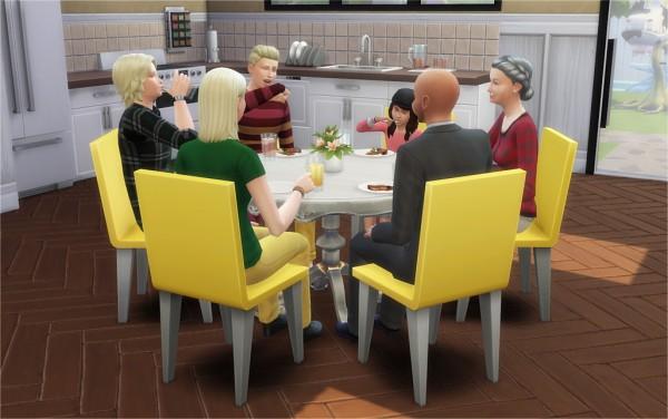 Veranka 6 Seat Round Dining Tables Sims 4 S