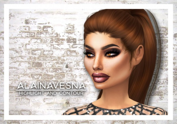 Alaina Vesna Highlight And Contour Sims 4 Downloads