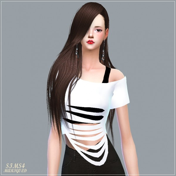 Sims 4 Cc S The Best Windows By Tingelingelater: SIMS4 Marigold: Destroyed Crop Top • Sims 4 Downloads