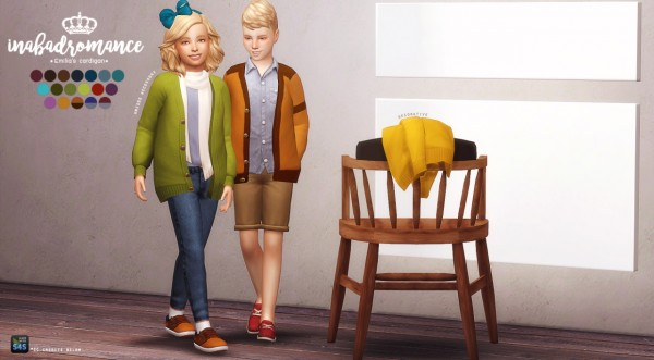 In a bad romance: Child accessory cardigan • Sims 4 Downloads