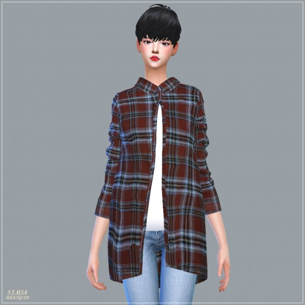 Sims4 Marigold Long Shirts With Tee Sims 4 Downloads