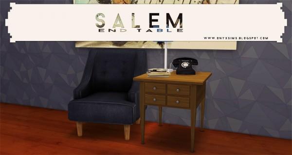 Onyx Sims: Salem End Table
