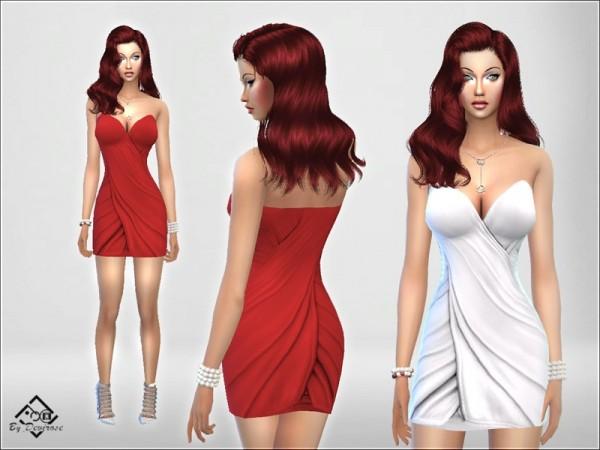 The Sims Resource: Intreccio Satin Dress by Devirose