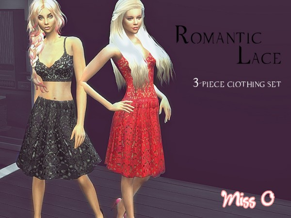 The Sims Resource: Romantic Lace Set by Mis O