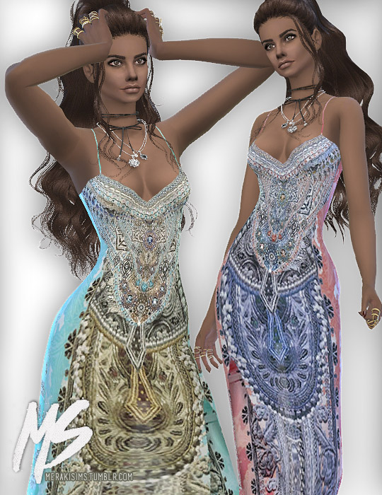 Merakisims: Luce satin dress