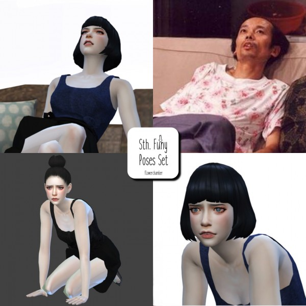 Flower Chamber Funny Poses Set Sims 4 Downloads