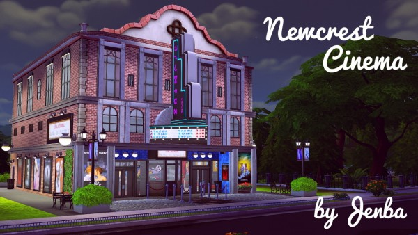jenba sims newcrest cinema � sims 4 downloads