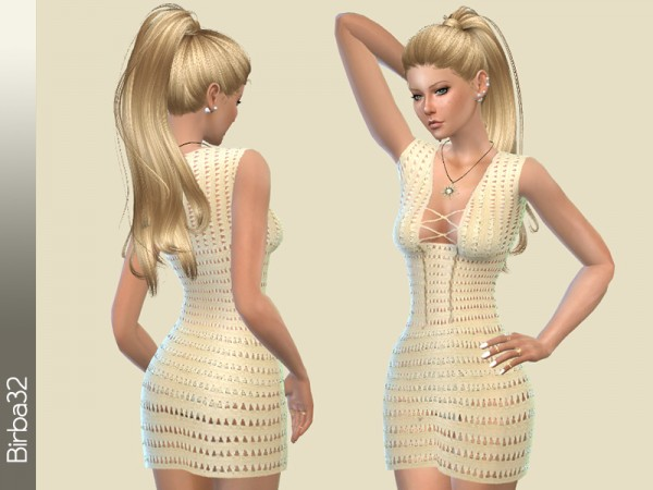 The Sims Resource: Crochet Summer Dress by birba32