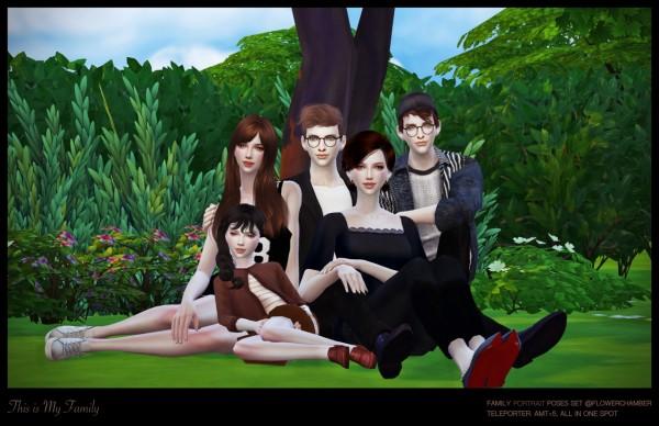 Flower Chamber: Family portrait poses set
