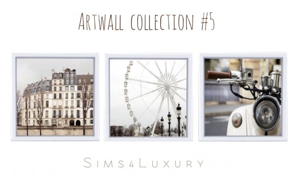 Sims4Luxury: Artwall collection 5