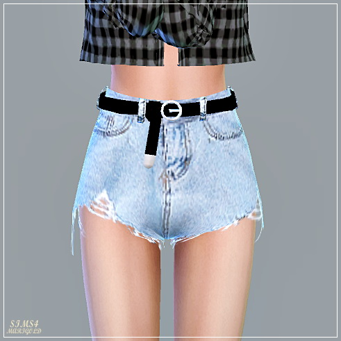 SIMS4 Marigold: Alpha Belt Hot Pants