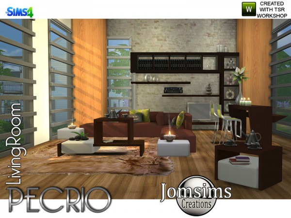The Sims Resource: Pecrio Modern livingroom by jomsims