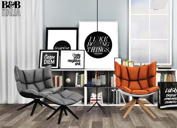 MXIMS: 6200+ Followers Gift: B&B Italia HUSK Chairs • Sims 4 Downloads