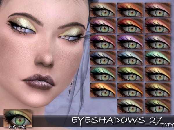 Simsworkshop: Eyeshadows 27 by Taty