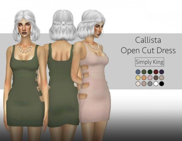 Simply King: Callista Open Cut Dress