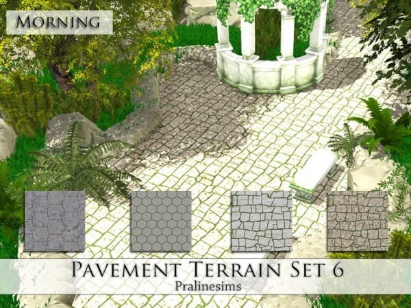 The Sims Resource: Pavement Terrain Set 6 by Praline Sims