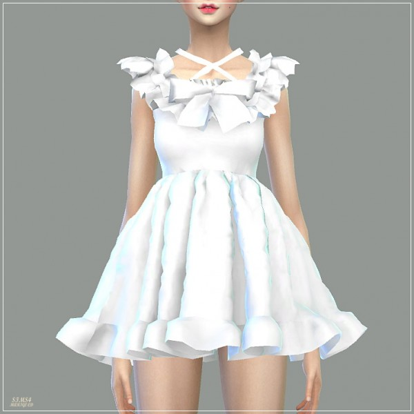 SIMS4 Marigold: Pure Doll Dress • Sims 4 Downloads