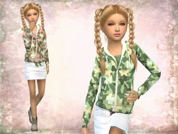 The Sims Resource: Girls Camo Jacket by SweetDreamsZzzzz