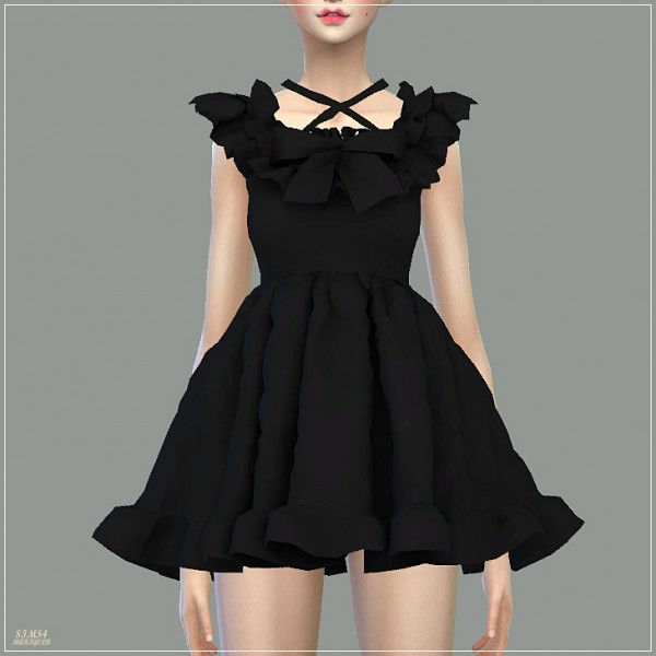 Sims4 Marigold Pure Doll Dress Sims 4 Downloads