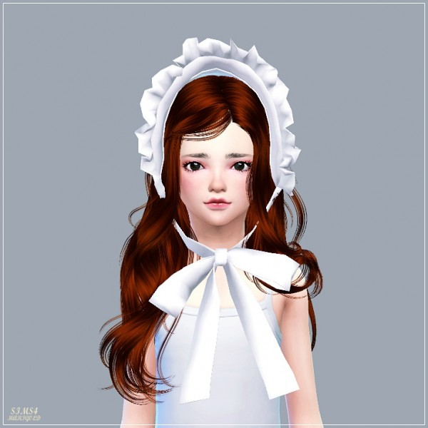 Sims4 Marigold Frill Bonnet Sims 4 Downloads