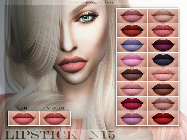 The Sims Resource: Lipstick N15 by Fashion Royalty Sims