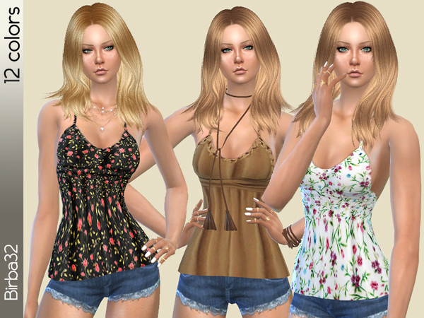 The Sims Resource: Hippie top 2 by Birba32