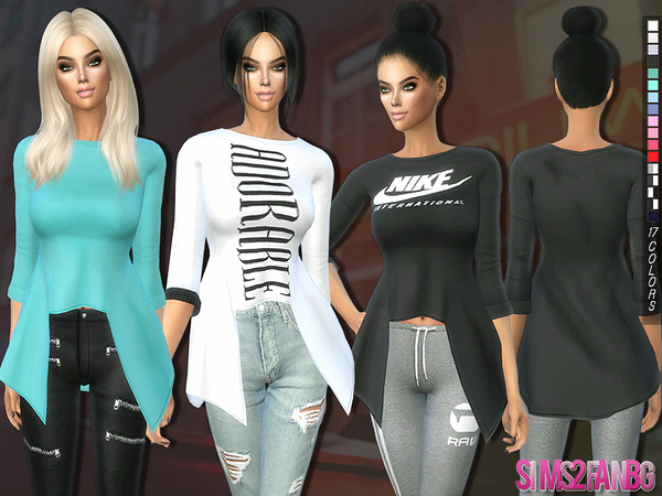 The Sims Resource: 201   3D Casual top with sleeves by sims2fanbg