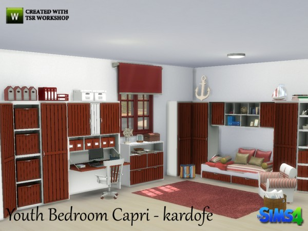 The Sims Resource Youth Bedroom Capri By Kardofe Sims 4
