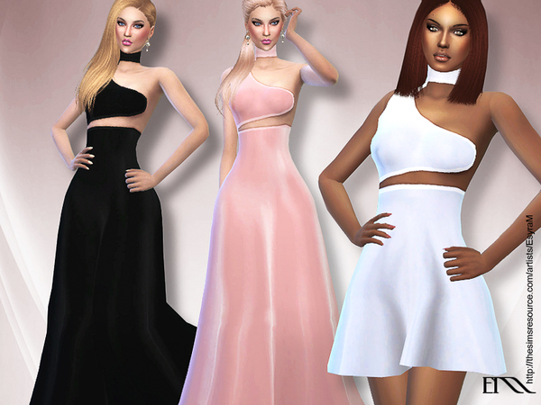 The Sims Resource: Asymmetrical Dress Collections by EsyraM