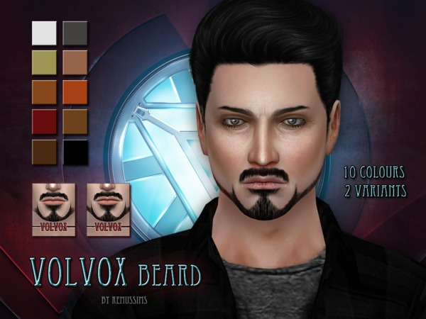 The Sims Resource: Volvox Beard by RemuSirion