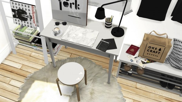 mxims ikea office set tjusig hallway set and dc shoes deco sims 4 downloads. Black Bedroom Furniture Sets. Home Design Ideas