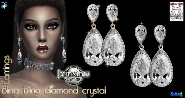 Jom Sims Creations: Blin Bling earrings