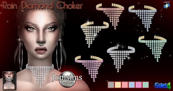 Jom Sims Creations: Rain diamond choker