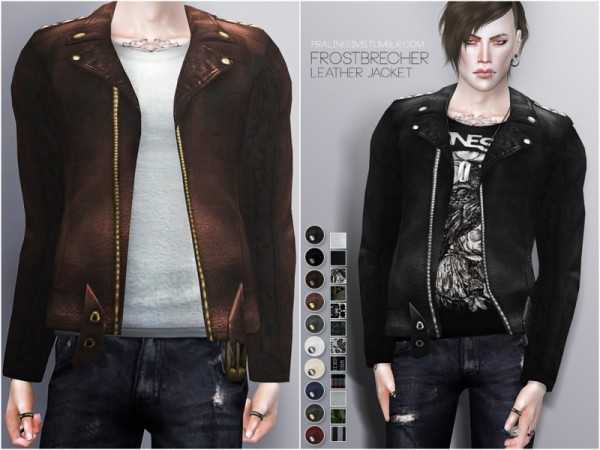 The Sims Resource: Frostbrecher LeatherJacket by Pralinesims