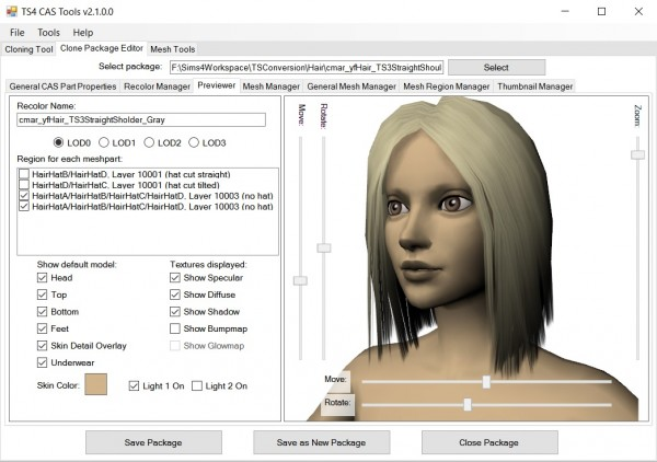 Mod The Sims: S4 CAS Tools by CmarNYC