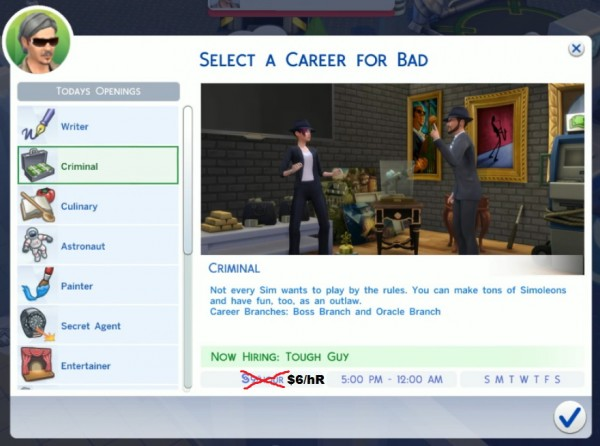 Mod The Sims: Realistic Salaries  Lower Career Salaries by Wizirdi