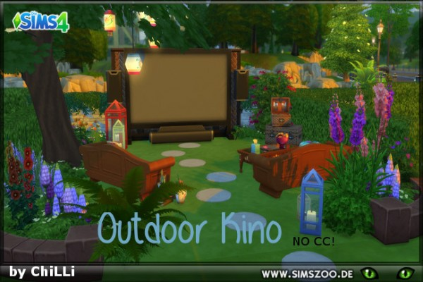 Blackys Sims 4 Zoo: Outdoor Kino by ChiLLi