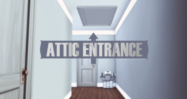 Onyx Sims: Attic Entrance Door
