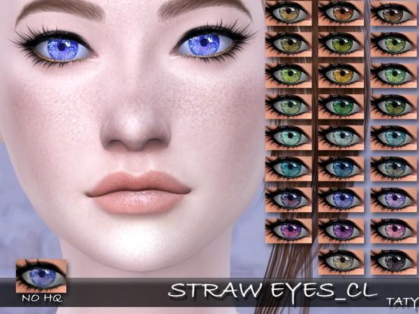 Simsworkshop: Straw Eyes by Taty