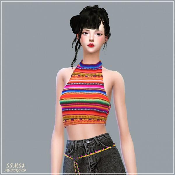SIMS4 Marigold: Halter neck Sleeveless