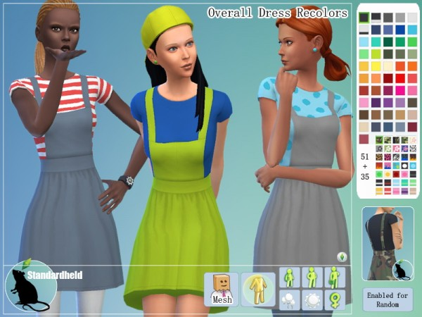 Simsworkshop: Overall Dress by Standardheld