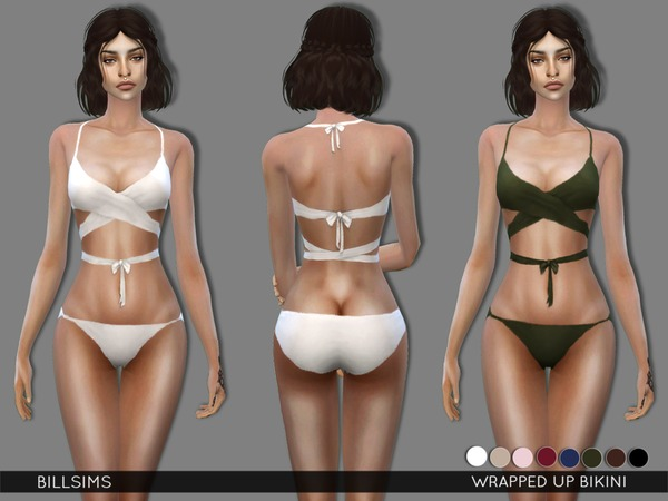 The Sims Resource: Wrapped Up swuimsuit by Bill Sims