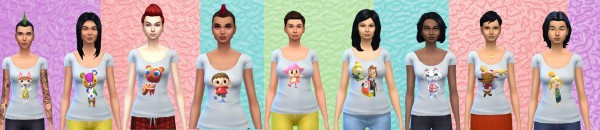 Simsworkshop: Animal Crossing shirt Part 1