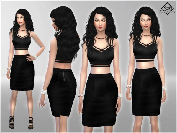 The Sims Resource: Crop Dress Chic by Devirose
