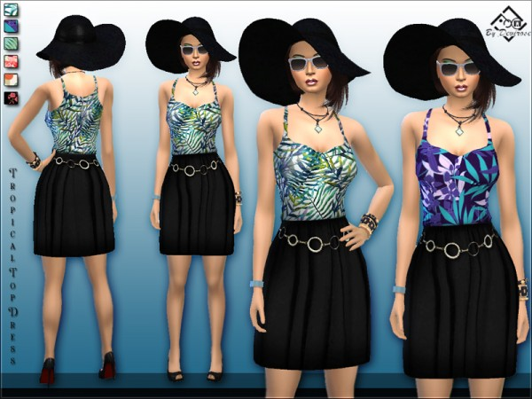 The Sims Resource: Tropical Top Dress by Devirose