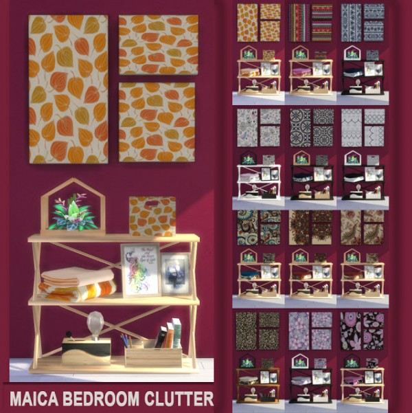 Sims 4 Cc S The Best Windows And Door Decor By Maximss: PQSims4: Maica Bedroom Clutter • Sims 4 Downloads