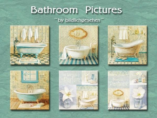 Akisima Sims Blog: Bathroom murals