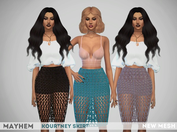 The Sims Resource: Kourtney Skirt by Mayhem Sims