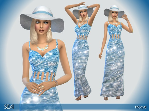The Sims Resource: Sea dress by Paogae
