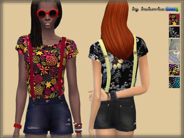 The Sims Resource: Jumpsuit & Suspenders by Bukovka